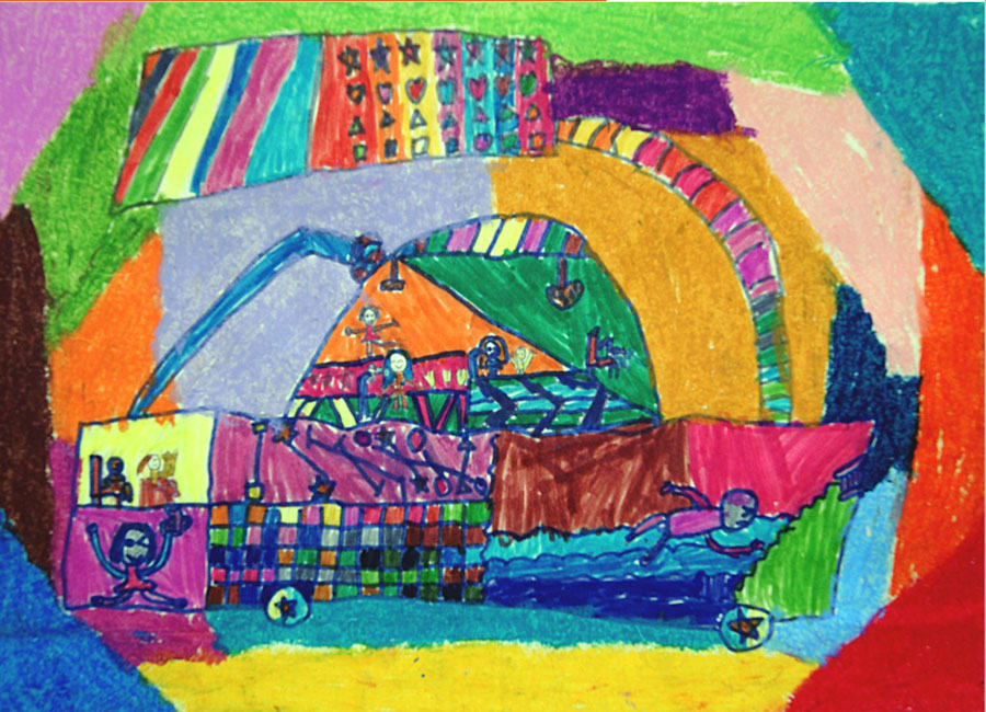 Детские рисунки машина будущего