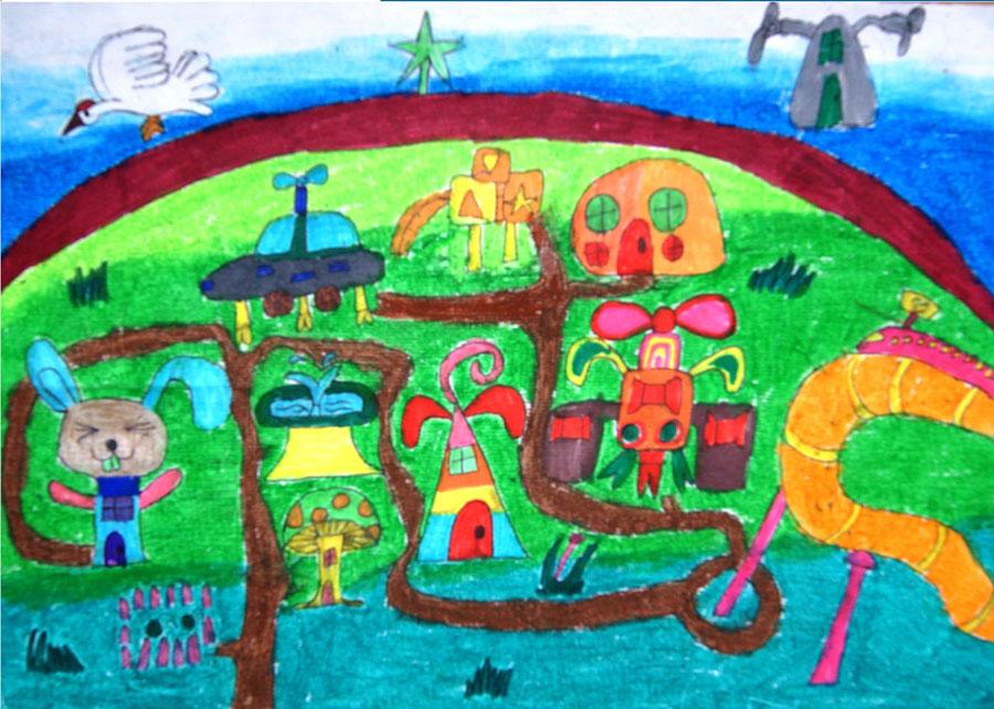 Рисунки парк детские