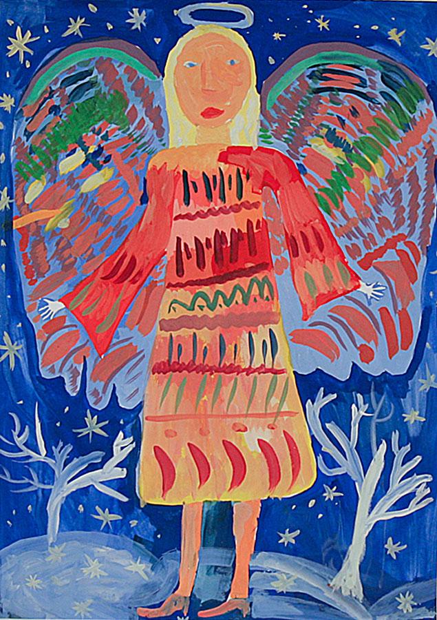 детские рисунки о рождестве выставка светлый ангел рождества
