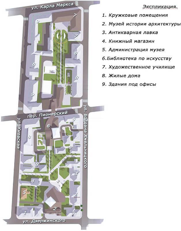 Опорный план квартала в