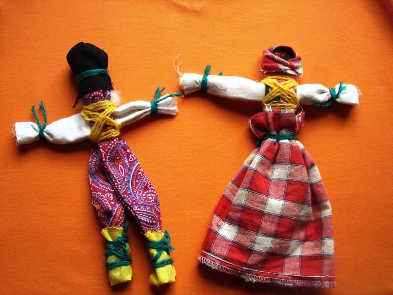 Игровые куклы-скрутки